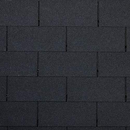 doitBau PREMIUM Bitumen Dachschindeln – Rechteckige Dachpappe Selbstklebend für 3m² Dachfläche in Farbe: Schwarz - 21 Stück| Für Vogel- & Gartenhaus