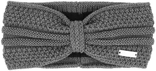 Eisglut Damen Esmeralda Merino Stirnband, grau Mel, M 57-58cm