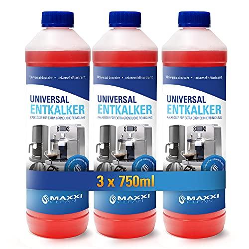 Maxxi Clean Power Universal Entkalker für Ihren Kaffeevollautomaten   Für alle bekannten Marken geeignet   Kalklöser für extra gründliche Reinigung (3x 750 ml)