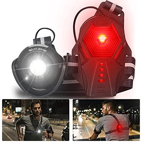 2021 Neu Lauflicht HONGYEA Lauflampe Joggen, USB Wiederaufladbare Lauflampe Brust Licht, 500 Lumen Wasserdicht Laufen Licht, 3 Lichtmodi, 90° Drehbar, Sichere Lampe zum Laufen Joggen Spazieren Wandern