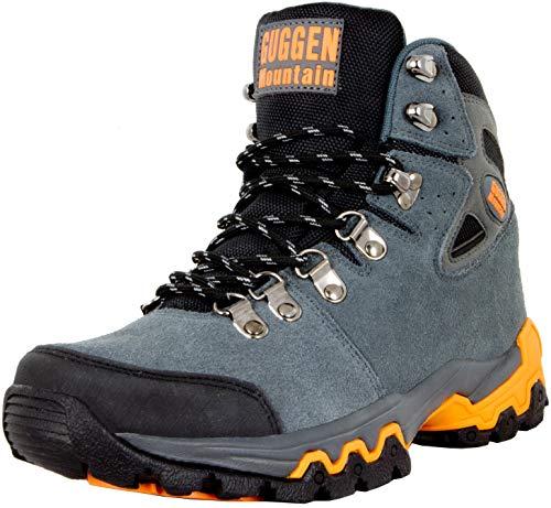GUGGEN Mountain M008v2 Herren Bergschuhe Wanderschuhe Wanderstiefel Outdoor Schuhe Trekkingschuhe, Grau, EU 44