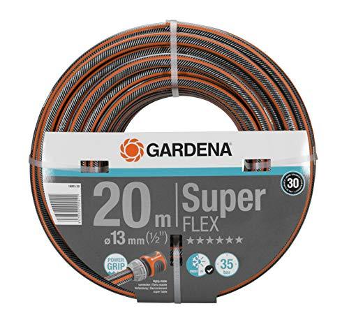 Gardena Premium SuperFLEX Schlauch 13 mm (1/2 Zoll), 20 m: Gartenschlauch mit Power-Grip-Profil, 35 bar Berstdruck, hochflexibel, formstabil, UV-beständig (18093-20)