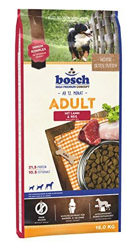 bosch HPC Adult mit Lamm & Reis   Hundetrockenfutter für ausgewachsene Hunde aller Rassen   1 x 15 kg