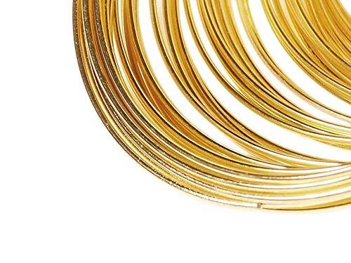 Vintageparts Memory Wire, Spiraldraht für Armband in goldfarben 100 Windungen DIY Schmuck Memory Draht Schmuckdraht Spiraldraht Metalldraht