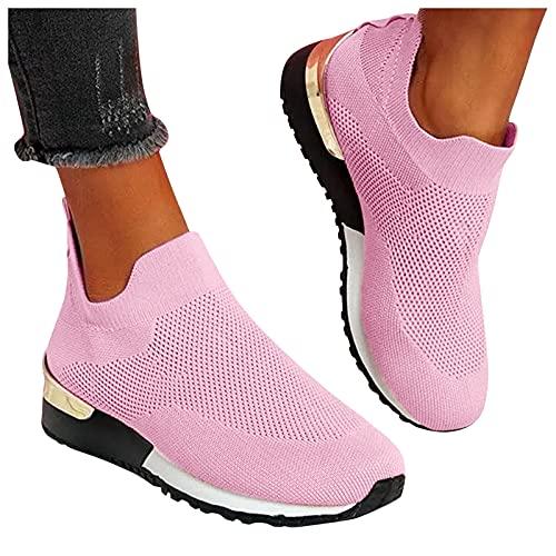 Dasongff Damen Laufschuhe Sneaker Sport Laufen Mesh Outdoor Canvas Flache Schuhe Turnschuhe Atmungsaktiv Leichte Freizeitschuhe Runing Sportschuhe Beiläufige Sommer Fitness Schuhe