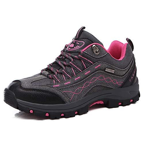 REBEST Wanderschuhe Damen Trekkingschuhe Herren rutschfest Outdoor Schuhe Wanderstiefel Anti-Rutsch Wanderstiefel atmungsaktiv Wandern Hiking Sneaker