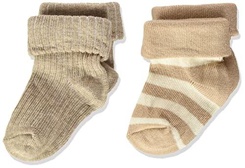 Noppies Baby Unisex Baby U Socks Regensburg Babysocken, White Sand-P670, 6M-12M