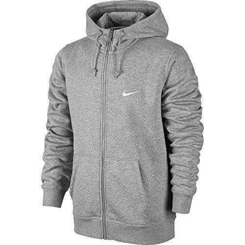 Nike Herren, Kapuzenpullover mit durchgehendem Reißverschluss, Mehrfarbig (Dunkel Heidekraut Grau/weiß), XL