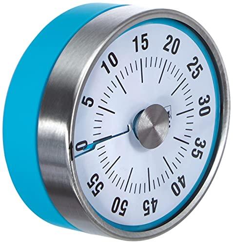 TFA Dostmann Puck Küchentimer, Eieruhr magnetisch, Timer, mit Restzeit-Anzeige, 0-60 Minuten, türkis, 38.1028.20,L 79 x B 32 x H 79 mm