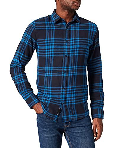 ONLY & SONS Herren ONSNATE Life LS Check Shirt Hemd, Dark Navy, L