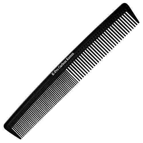 K-Pro Carbon Kamm - Damen Herren Haarschneidekamm Bartkamm Antistatisch - 1 Stück