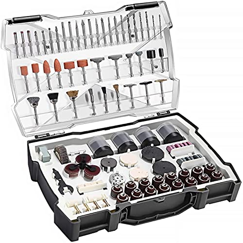 Zubehörset für Multifunktionswerkzeug, 361-tlg Mehrzweck Zubehörset Werkzeug Universal Zubehör Super einfach zum Schneiden, Schleifen, Polieren, Bohren und Gravieren, Zubehörset