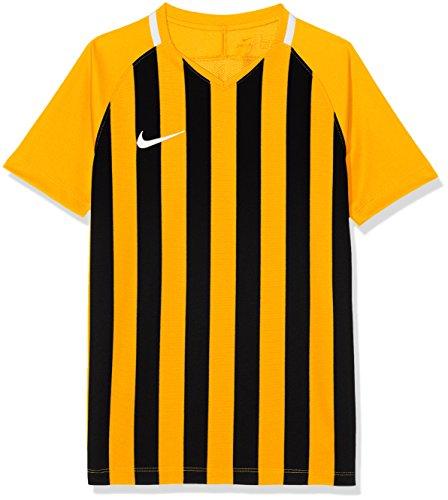 Nike Kinder Striped Division III Jersey SS Trikot, Mehrfarbig (university gold/Black/White), S