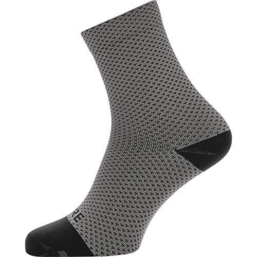 GORE WEAR C3 Unisex Mittellange Fahrrad-Socken, Mehrfarbig (Graphite Grey/Black), 41-43
