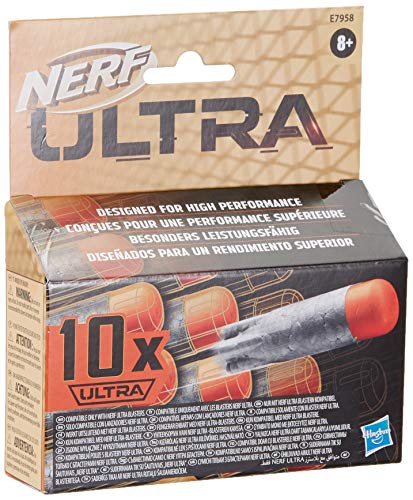 Hasbro E7958EU4 Ultra 10-Dart Nachfüllpack – der ultimative Nerf Dart Spaß – Nur mit Nerf Ultra Blastern kompatibel