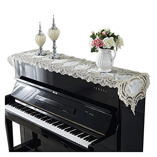 Stolzes Rose American Piano Handtuch Luxus Stickerei Spitze Tischdecke Modern Einfache Universal Cover Tuch Klavier (Color : Light beige, Specification : 40x250cm)