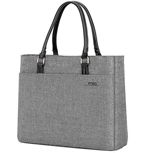 UtoteBag Damen 15,6 Zoll Laptoptasche Nylon Handtasche Laptop Schultertasche Umhängetasche Tote Bag für Frauen Business Aktentasche Leicht Businesstasche Notebooktasche für Laptop Notebook