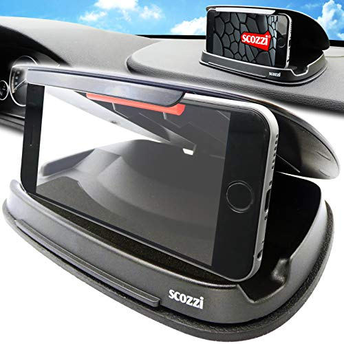 scozzi Handyhalterung Auto Armaturenbrett rutschfest Handy KFZ Halterung Halter universal kompatibel mit Samsung,iPhone,Huawei S21 S20 S10 S9 A71 A51 M51 P40 13 12 11 X XS XR Plus Ultra Lite Mini Pro