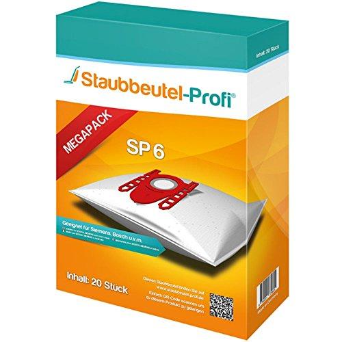 20 Staubsaugerbeutel geeignet für Bosch BGB45331, BSGL5ZOODE Zoo'o ProAnimal, BSG62400, BSG62023, Logo, SP6 von Staubbeutel-Profi® Made in Germany
