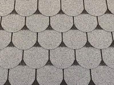 Isolbau Dachschindeln 3 m² Biberschindeln Grau (21 Stk) Schindeln Dachpappe Bitumenschindeln Gartenhaus Vogelhaus Holz Kaninchenstall Betonsäulenüberdeckung Hundehütte