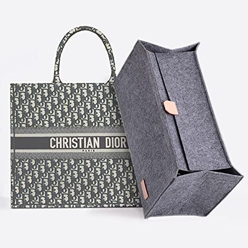 Doxo Organizer-Einsatz mit Reißverschluss Innentasche für Doir Book Tote Bag (grau mit Deckel, XL)