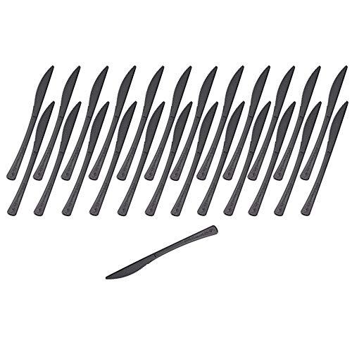 GRÄWE Tafelmesser aus CPLA, 25 Stück, schwarz - wiederverwendbar