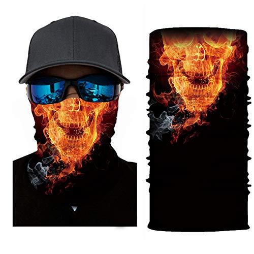 SendYouShine Sommer Hochelastische 3D Halstuch Kopftuch Radfahren Multifunktionstuch Stirnband Winddicht Motorradmaske Skifahren Kopf UV-Schutz Neck Gaiter Bandana für Herren Damen Kinder U421