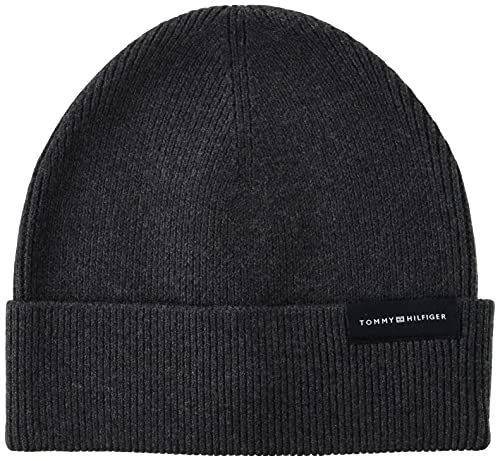 Tommy Hilfiger Uptown Wool Beanie Charcoal Gray