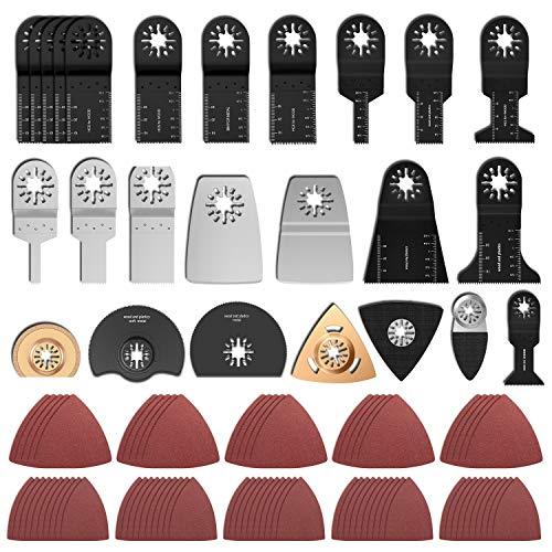100 Stk Oszillierendes Zubehör Set Mix Multitool Sägeblätter Multifunktionswerkzeug Geeignet für Fein Multimaster Makita Einhell
