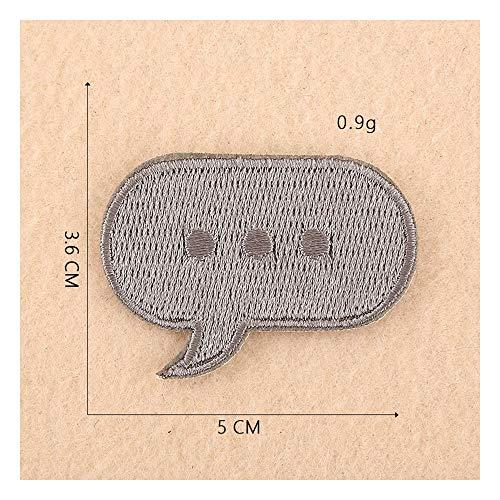 Tongjun Computer-Stickerei-Informationsrahmen Schmuck Zubehör kleinen Patch Aufkleber DIY eigene Stickerei Tuch Aufkleber Kleidung Ornamente (Size : 1)