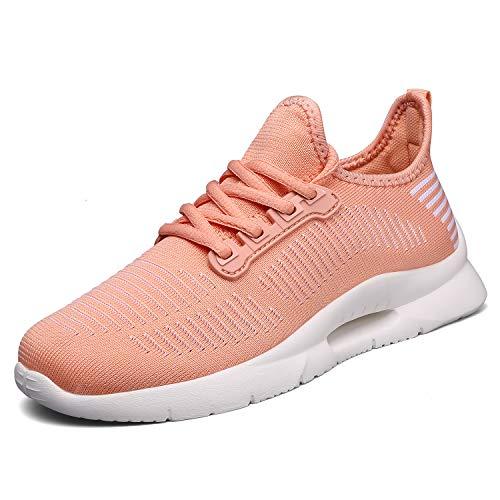Thlppe Turnschuhe Straßenlaufschuhe Damen Sneakers Damen-Hallenschuhe Sportschuhe Mesh Atmungsaktiv Laufschuhe Leichtgewichts Outdoor Fitnessschuhe Pink 40EU