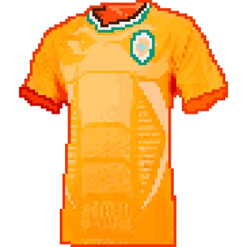 Football Shirts Color By Number - Pixel Art Sandbox Coloring Book