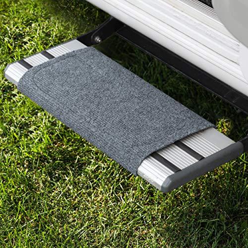 FAIRMO Wohnmobil Trittstufen Fußmatte - Qualitäts Matte für Ihren Wohnwagen individuell passend! Wohnmobil Zubehör - Clean Step Teppich Fussmatte - Camping Stufen Matte in Grau (Grau)